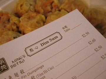 Ming's Bistro is totally awesome and I love their Dim Sum