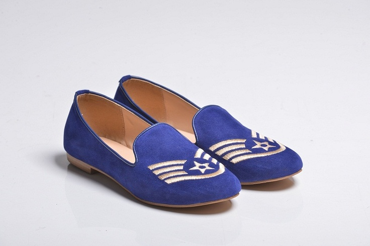 Blue Sergeant Velvet Slippers