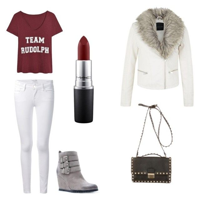 """Untitled #6"" by preethi-eaga on Polyvore featuring Frame Denim, Qupid, Valentino and MAC Cosmetics"