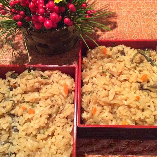 お餅が入ってるなんて、全く感じない! もっちり感もしっかりあるよ - 23件のもぐもぐ - のんのんさんの料理 切り餅で山菜おこわ◟̆◞̆♡ by rinriko