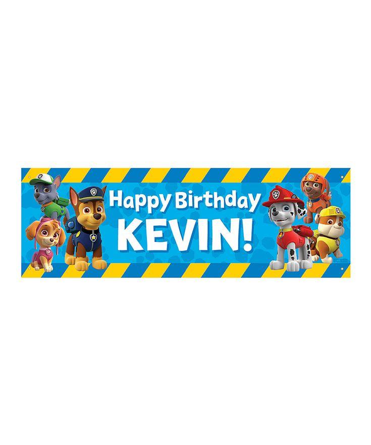 PAW Patrol 'Happy Birthday' Personalized Banner