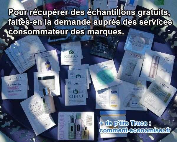 Produits alimentaires, d'entretien ou d'hygiène, il existe de nombreuses astuces pour obtenir des échantillons gratuits. Et limiter ainsi ses dépenses de course ! Voici mon secret.  Découvrez l'astuce ici : http://www.comment-economiser.fr/recevoir-echantillons-gratuit.html?utm_content=buffer32c6a&utm_medium=social&utm_source=pinterest.com&utm_campaign=buffer