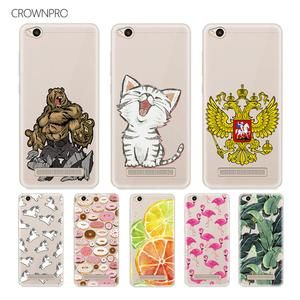 CROWNPRO Redmi 4A Case Soft TPU Silicone Case Transparent Back Cover - mootsepur