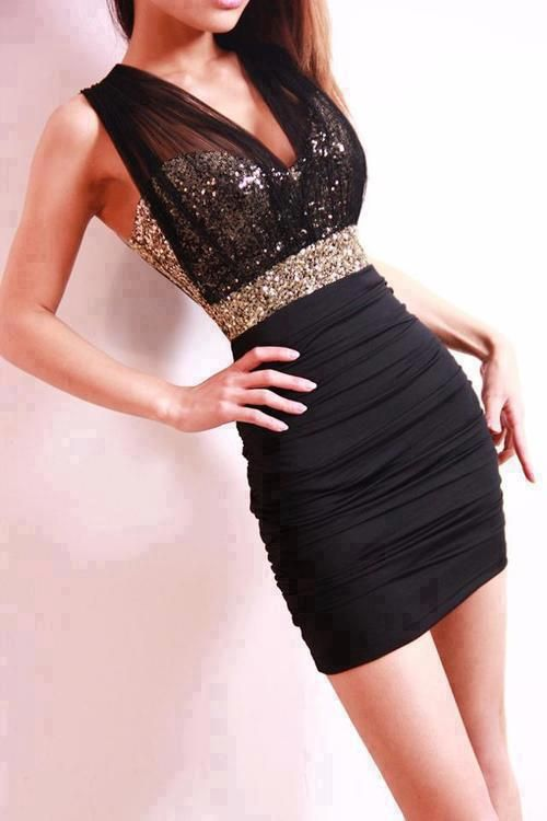 black and gold dress... is really perfect