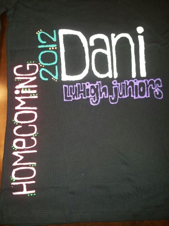 Homecoming shirt homeade diy homecoming tshirt puff painy