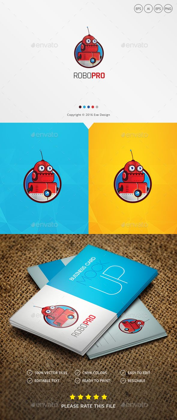 Robot Logo - Objects Logo Templates Download here : https://graphicriver.net/item/robot-logo/19244756?s_rank=61&ref=Al-fatih