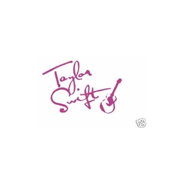 Taylor Swift Signature Car Decal Vinyl Sticker Guitar