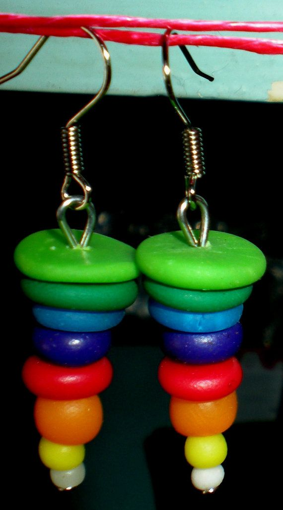 Handmade earrings  jewelry from polymer clay by by Inspiration2Art, $6.99