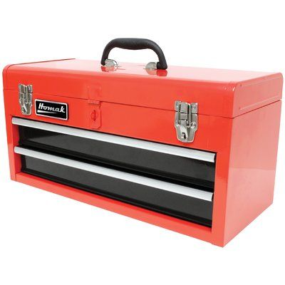 "Homak 20"" Tool Box Color: Red"