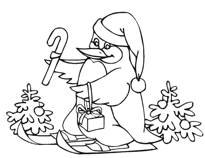 penguin in the christmas day coloring pages penguin coloring pages kidsdrawing free coloring - Club Penguin Coloring Pages Ninja