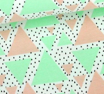 Sweat - GOTS - Warm Summer - Triangles - Dreiecke - Weiß