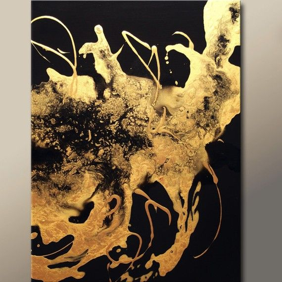 A Golden Touch - Metallic Gold Abstract Painting by Destiny Womack.