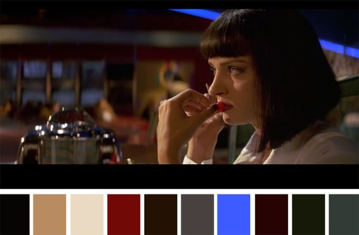 50 Iconic Films and Their Color Palettes - Pulp Fiction