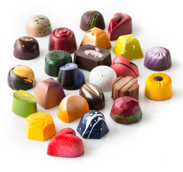 Chocolate Secrets has 3 hand painted bonbon collections: Hand Painted, Atieh and Barrel Aged #ChocolateSecrets #bonbon #WeLoveChocolate