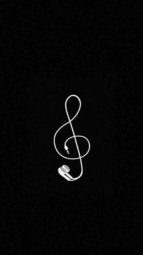 music and black image