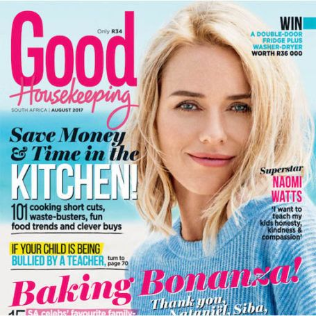 Get the August issue of GH today! The new issue of Good Housekeeping magazine, with the inspiring Naomi Watts on the cover, is on sale now! Here's what you can expect inside: