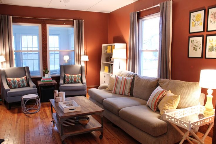 Warm living room love the wall color blank slate - Warm wall colors for living rooms ...
