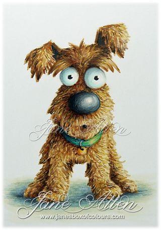 Crazy dogs | Copic with some pencil Ground: B91, C00, C1, C2, C4 Dog Collar: B99, B93, B95, B97, N8, YR21, YR27, YR31 Dog: E11, E25, E30, E31, E34, E59, B0000, B000, No, N1, V20, C6, N3, N4, N5, N6, N8, W6, W10