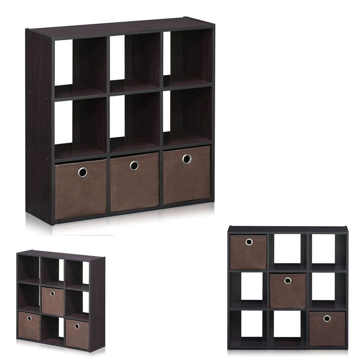 Simply dark walnut bookcase storage shelf bookshelf book display case furniture #PerfectAllianceLad #Contemporary