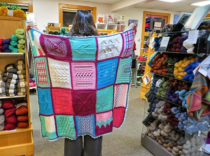 Smita's Don't Be A Square Afghan in Uptown Worsted Yarn.
