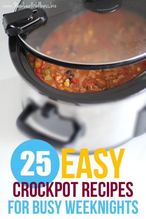 25 Easy Crock Pot Recipes for Busy Week Nights