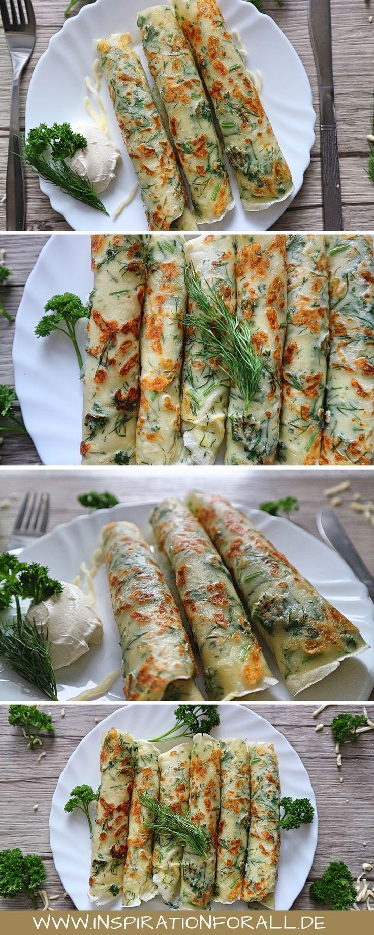 Kräuter-Käse-Blini – einfaches & schnelles Rezept zum Anbeißen