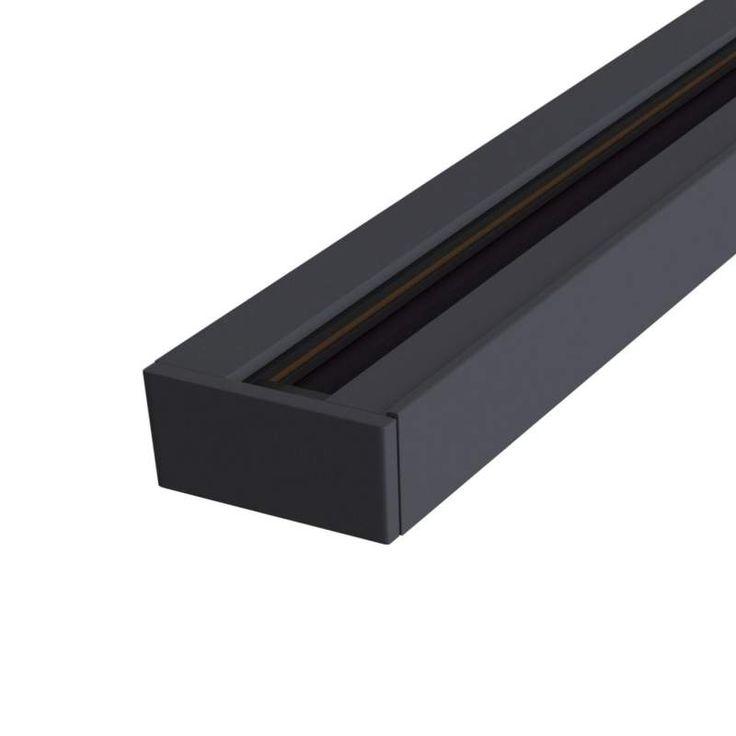 1-Phasen Schiene Track in Schwarz, 1.000 mm von Maytoni