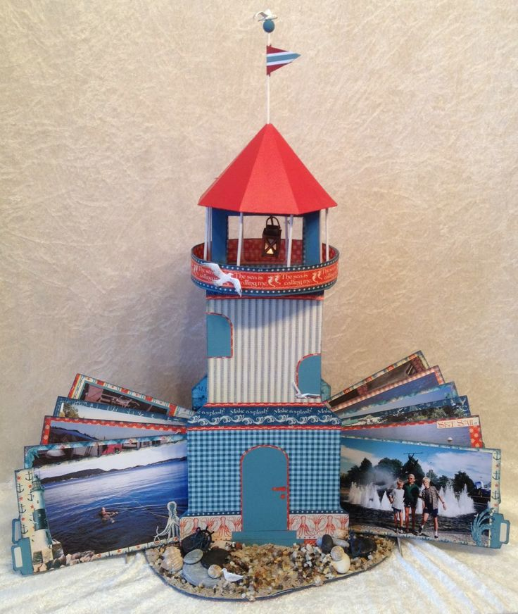 annes papercreations: G45 By The Sea lighthouse photo album