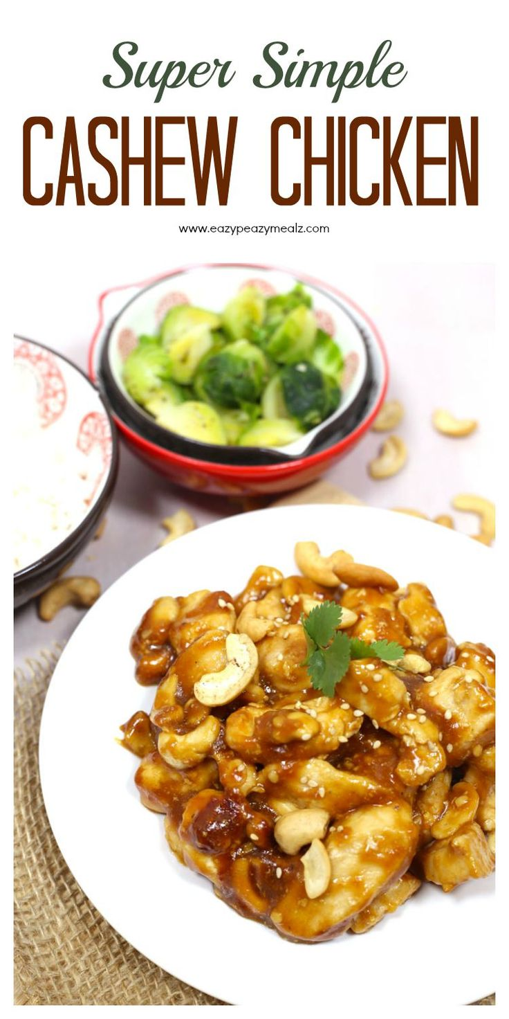 Simple Cashew Chicken Recipe perfect for a hungry family