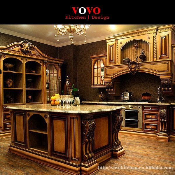 American Style Luxury Kitchen Cabinets Solid Wood In Matte Cherry