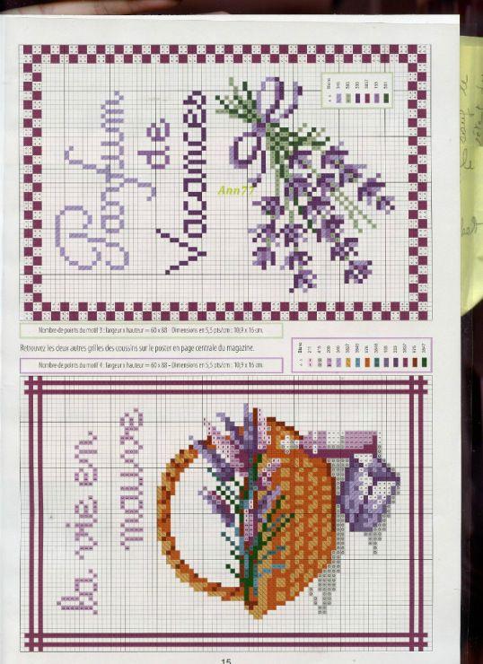 Gallery.ru / Фото #13 - 996 - Yra3raza lavender lavande cross stitch