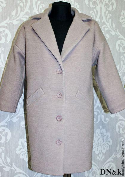 Пальто Oversize (Оверсайз) - бежевый,кофе с молоком,пальто,оверсайз,oversize