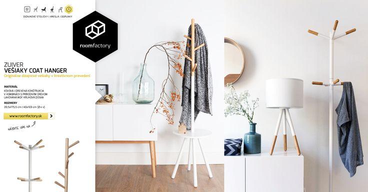Obliekli ste si dnes kabát, alebo bundu? Zaveste ich radšej na jeden z našich nových dizajnových vešiakov. Kreatívne prevedenia v kombinácii s prírodnými materiálmi Váš kabát isto potešia.