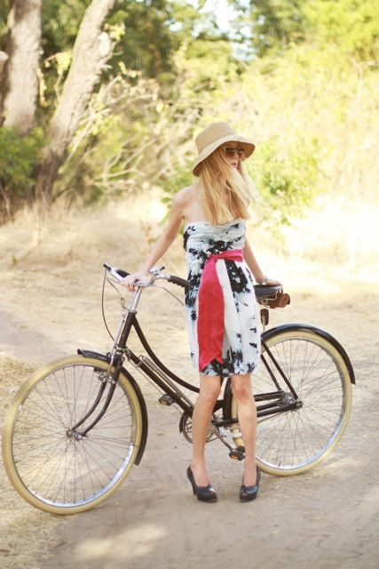 .. I'll have summer affairs, on the continent, and be able to ride a bicycle dressed like this.