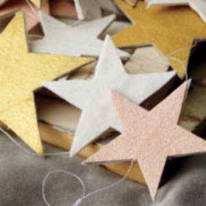 Kids Holiday Decor: Metallic Hanging Star Garland: Hollywood Stars, Hanging Stars, Metals Hanging, Holidays Decor, Starry Garlands, Girls Rooms, Stars Garlands, Land Of Nod, Kids Rooms