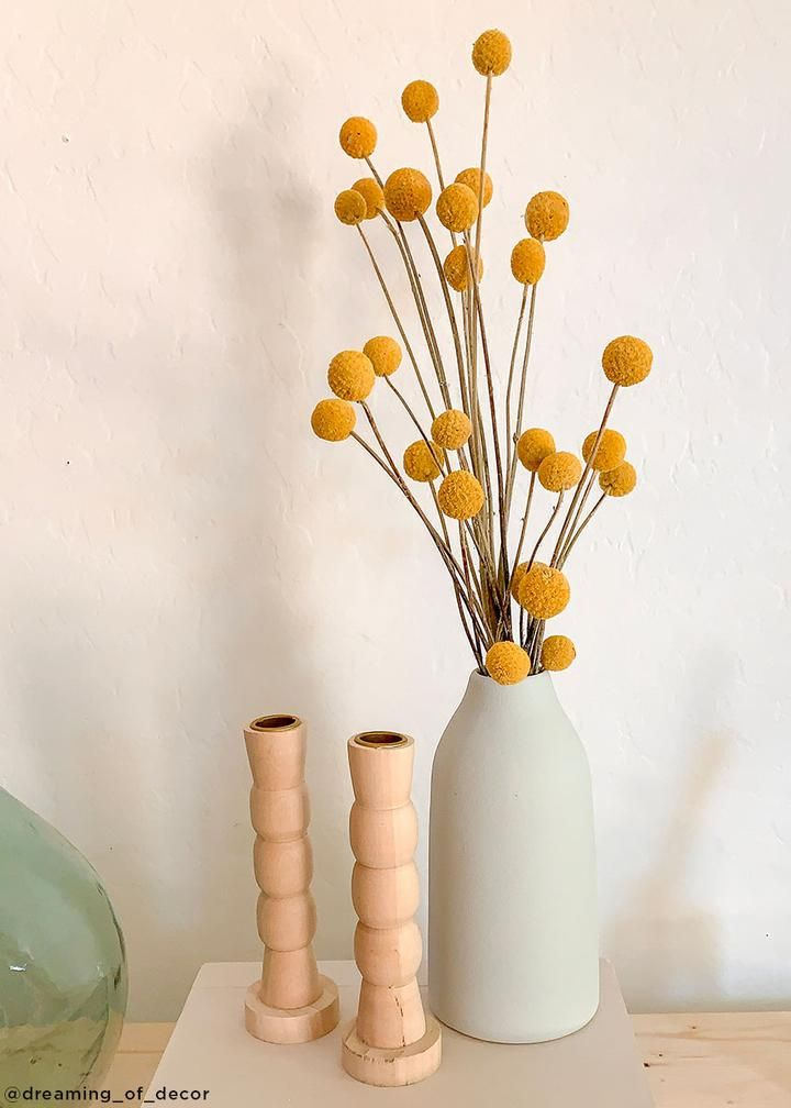 Pack Of 10 Dried Billy Buttons Craspedia In Natural Yellow In 2020 Dried Flower Arrangements Billy Buttons Dried Flowers