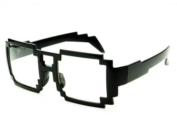 Geek Nerd Computer Bit Pixelated Clear Lens Party Glasses Frames P21 Glasses Party Sunglasses Glasses Frames