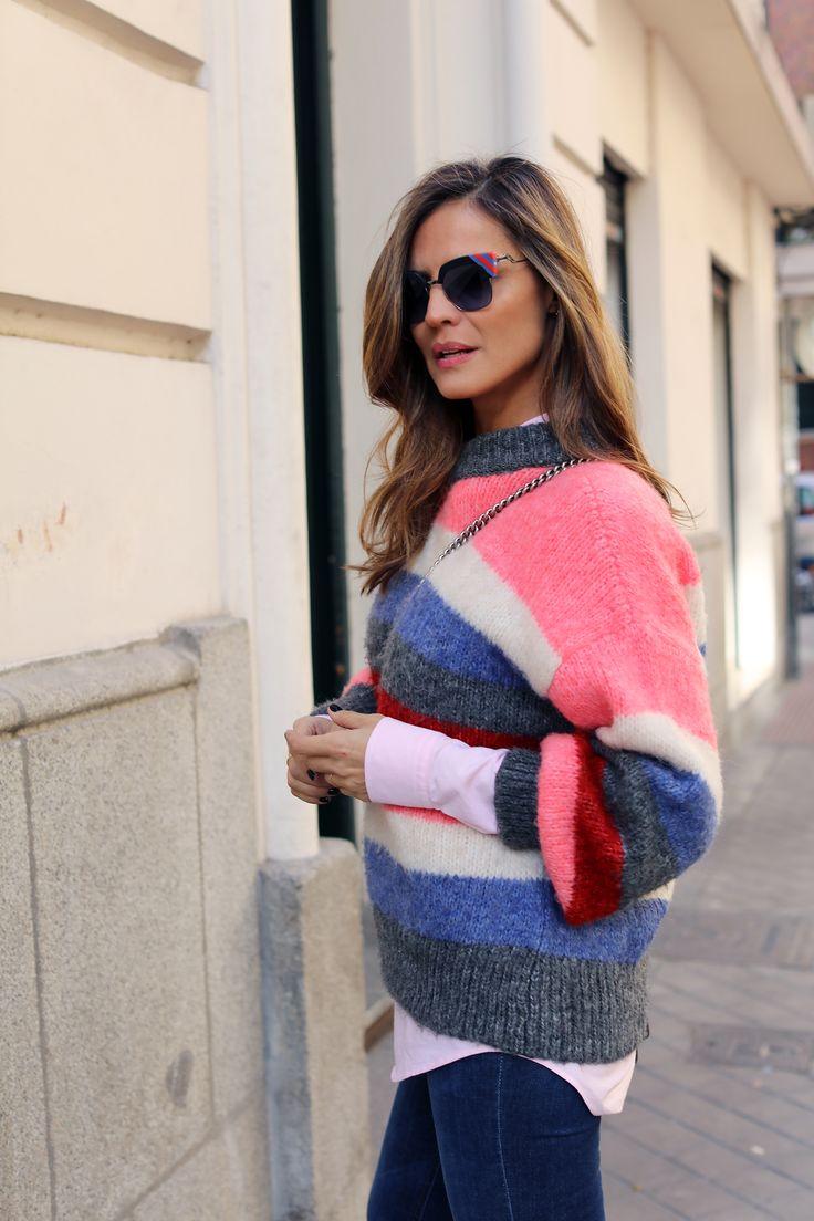 striped sweater look