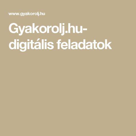 Gyakorolj.hu- digitális feladatok