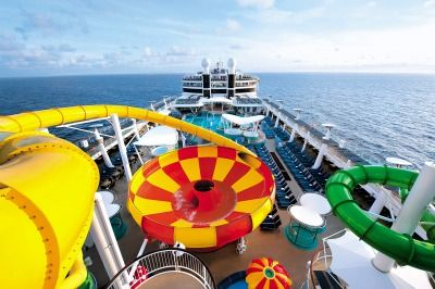 Norwegian Epic has an entire water park on the ship!