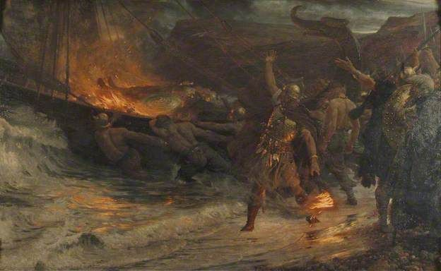 The Funeral of a Viking by Frank Dicksee (1893)