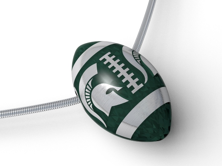 Coming soon to our MSU Spartan Collection. Enamel football pendant