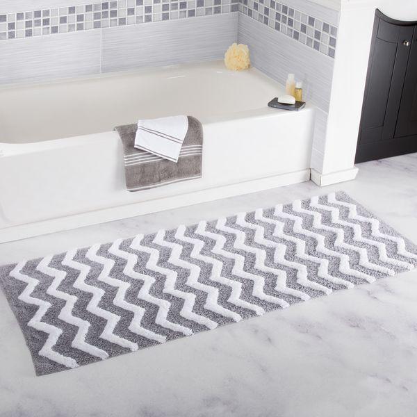 $36.89 Windsor Home 100% Cotton Chevron Bathroom Mat - 24x60 inches