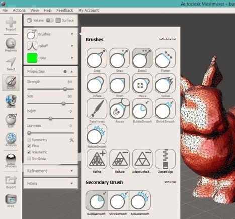 Free 3d Modeling Software To Create Mash 3d Models Autodesk Meshmixer