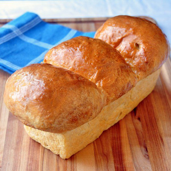 The Best Homemade White Bread - fresh from the oven.