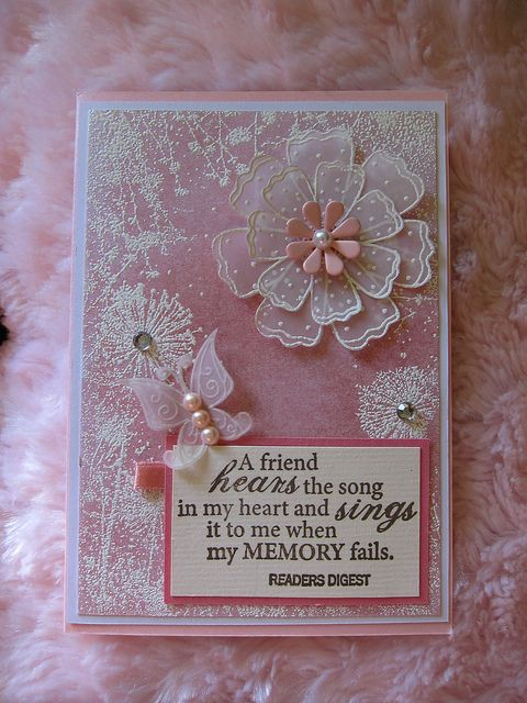 New flower stamp set with punch on vellum