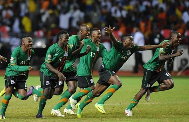 Zambia win the African Cup of Nations 2012
