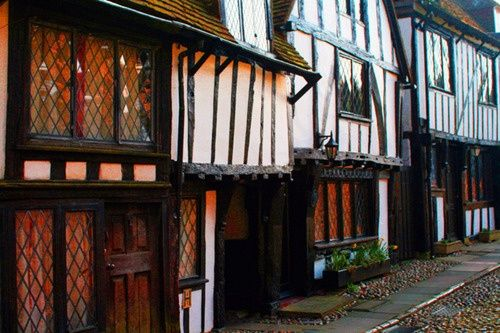 tudor architecture on church street, rye, east sussex