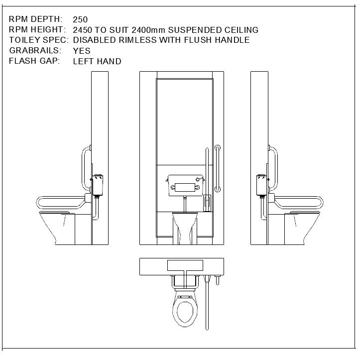 Download this collection of over 500 2d cad blocks of rpm for Bathroom 2d planner