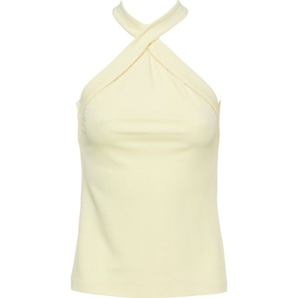 Pre-owned Gucci Camisole ($213) ❤ liked on Polyvore featuring tops, women clothing tops, yellow, cami tank, cami tank tops, yellow cami top, yellow cami and yellow camisole